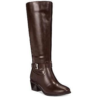 Karen Scott mulheres Fayth amêndoa Toe joelho botas de equitação de alta