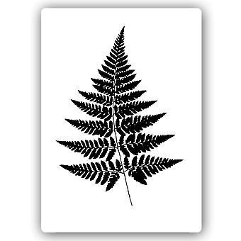 Impresión de metal, hojas de helechos
