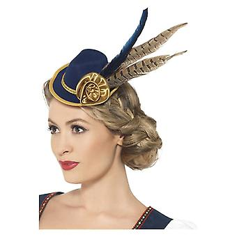 Womens Bavarian Oktoberfest Mini Hat  Fancy Dress Accessory