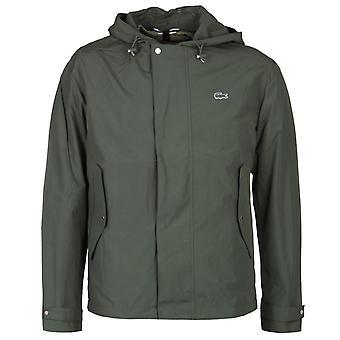Lacoste khaki grøn zip-through hættetrøje
