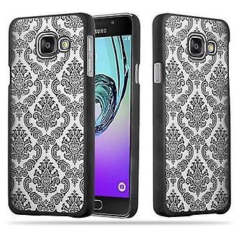 Samsung Galaxy A3 2016 Hardcase Case in BLACK by Cadorabo - Flowers Paisley Henna Design Protective Case - Pokrywa tylnej obudowy obudowy obudowy na telefon
