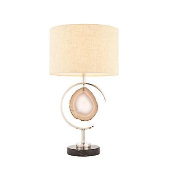Endon Agate 1 könnyű asztal lámpa polírozott nikkel, achát Stone 72802