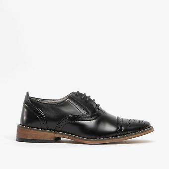 Goor Francis Boys Oxford Lace Up Chaussures noir