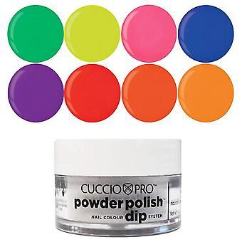 Cuccio Pro Powder Polish Nail Colour Dip System Dipping Powder - Funky Neons Collection Set (8 X 14g) (CPDA9206)