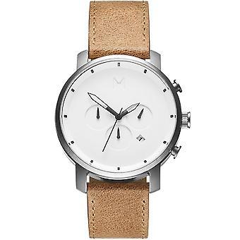 MVMT D-MC01WT horloge-heren bruin lederen TimeWatch