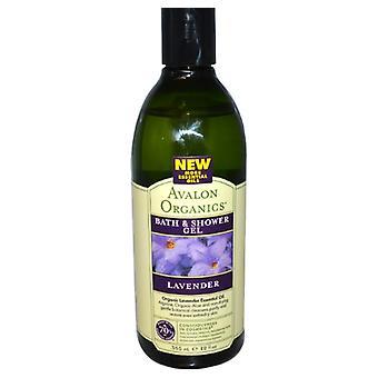 Bad & Douche Gel, Lavendel (355 ml) - Avalon Organics