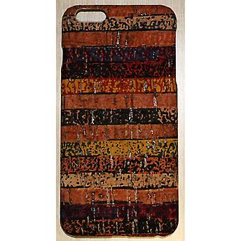 For iPhone 6S PLUS, 6 PLUS tilfelle, Rainbow Eco Cork høy kvalitet beskyttende deksel