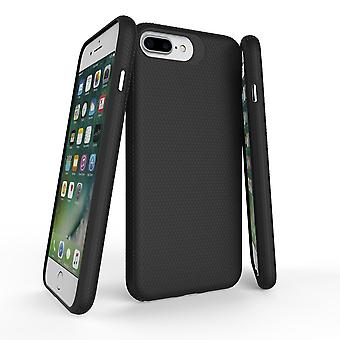 Para iPhone 8, 7, 6 e 6S Case, Black Armor Slim ShockProof Protective Phone Cover