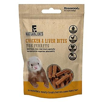 Rosewood Natural Eats Ferret Chicken And Liver Bites Treats