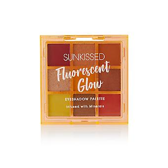 Sunkissed Fluorescent Glow Eyeshadow Palette Infused with Minerals - 9 x 1g Eyeshadow