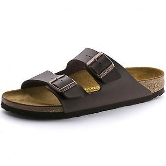 Birkenstock Arizona Birko-Flor Dark Brown Mule Sandals 0051703