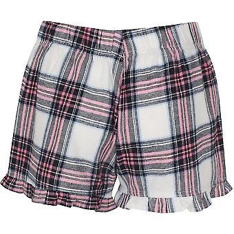 SF Womens/Ladies Tartan Frill Shorts