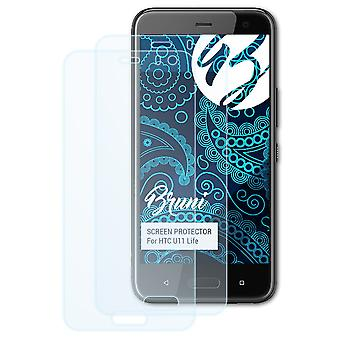Bruni 2x Screen Protector compatibel met HTC U11 Life Protective Film