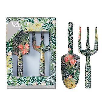 V & en gaffel og murskje sett
