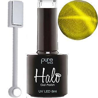 Halo Gel Nägel LED/UV Gel Polish - folgen Sie der Star 2018 Kollektion - Gold & Magnet 8ml (N2780)
