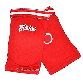 Fairtex competition elbow pads - red