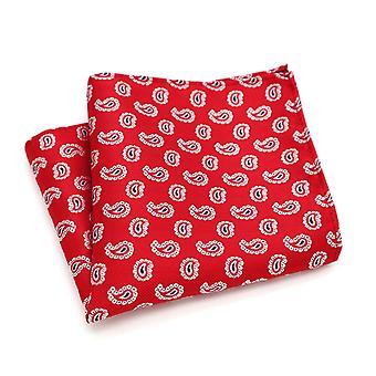 Kirkkaan punainen & valkoinen satunnainen Paisley ditsy lukion taskussa neliö