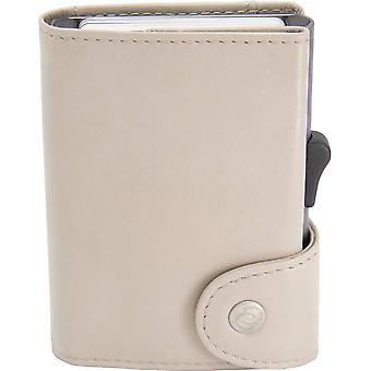 C-Secure Classic Leather XL Card Holder Wallet - Chestnut Brown