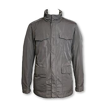 Armani Collezioni lightweight raincoat in grey with concealed hood