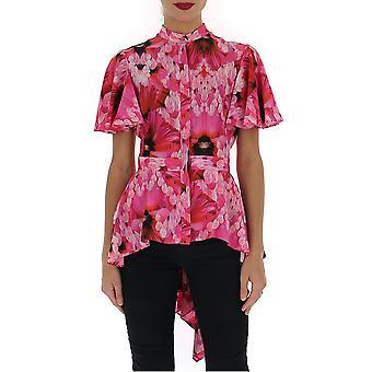 Alexander Mcqueen 611137qcabe5033 Frauen's rosa Seide Shirt