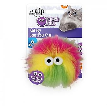AFP Fluffy Ball Rosa Furry Ball (Cats , Toys , Teaser Wands)