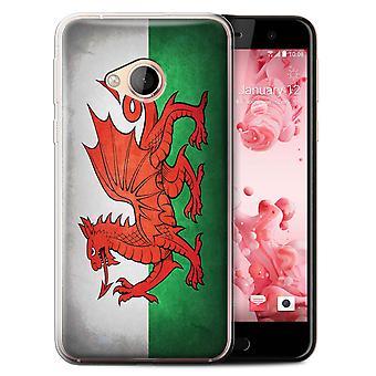 STUFF4 Gel TPU Case/Cover for HTC U Play/Alpine/Wales/Welsh/Flags