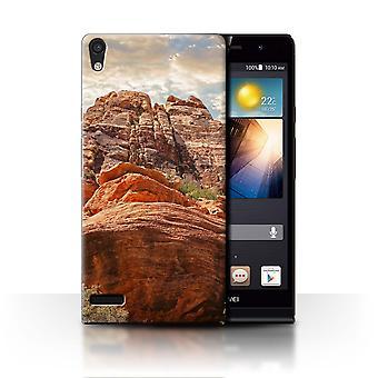 STUFF4 Hülle/Abdeckung für Huawei Ascend P6/Mountains/State of Nevada