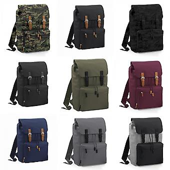 Bagbase Heritage Laptop Backpack Bag (Up To 17inch Laptop) (Pack of 2)