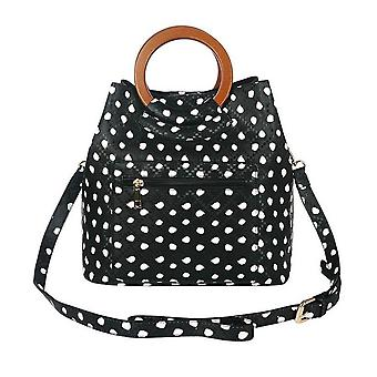Jewelcity Womens/Ladies Spotty Circular Handle Tote