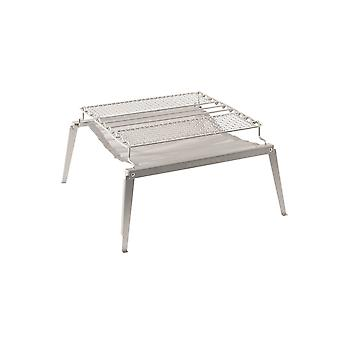 Robens silver timber mesh grill L 2-in-1 stainless steel outdoor grill and