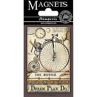 Stamperia Voyages Fantastiques Bicycle 8x5.5cm Magnet