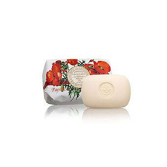 Saponificio Artigianale Fiorentino Handmade Soap - Poppy - Lovingly Wrapped in Wrapping Paper 200g