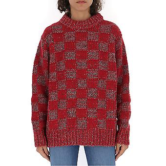 Marni Gcmd0143q0fw051chr70 Women's Red Wool Sweater