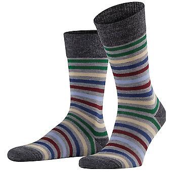 Falke tonet stribe sokker - Grå Melange