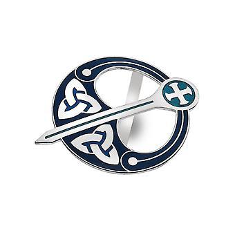 Celtic Trinity Knot Tara Blue Enamel Scarf Ring - Gift Boxed