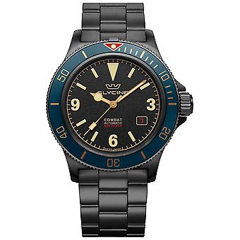 Combat Vintage Analog Men's Automatic Watch with GL0291 Stainless Steel Bracelet