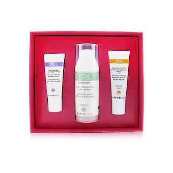 Ren Face Favoriter Set: Glykol latic Mask 15ml + Evercalm Day Cream 50ml + håll Young & Beautiful Beauty Shot 10ml 3st