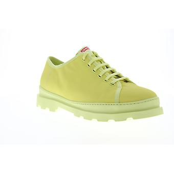 Camper Brutus Mens Yellow Canvas Low Top Lace Up Euro Sneakers Chaussures