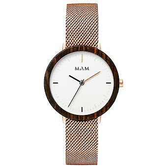 Mam Watches Ferra Watch for Women Analog japanese Quartz with 679 stainless steel bracelet