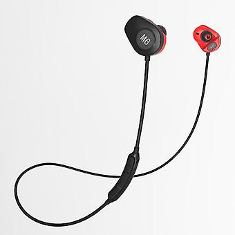 M6 sports heart rate bluetooth 5.0 headset  armature hifi waterproof stereo wireless earphone headphones neckband for android ios