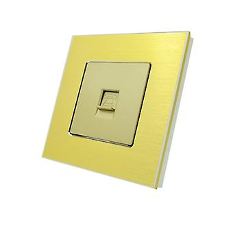 Ho LumoS lusso oro spazzolato alluminio BT RJ11 telefono parete presa singola
