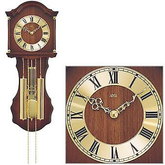 AMS 211/1 ساعة جدار مع البندول الخشب الميكانيكية الجوز الألوان الرئيسية ساعة البندول