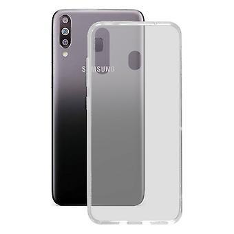 Mobile kansi Samsung Galaxy M30 KSIX Flex TPU läpinäkyvä joustava