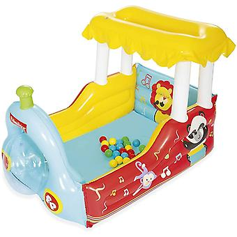 bestway fisher-price train inflatable play centre