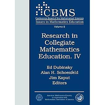 Research in Collegiate Mathematics Education IV by Ed Dubinsky - 9780