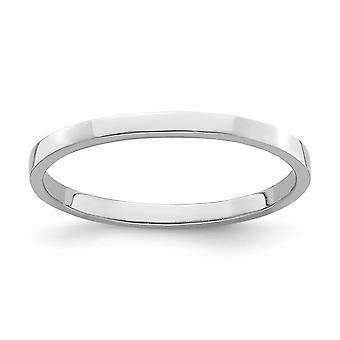 14 k Gold weiß Toe Ring hoch polnisch [Größe 3] Schmuck Geschenke für Frauen - .6 Gramm