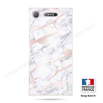 Rumpf für Sony Xperia Xz1 Soft Pink Marmor Effekt