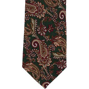 Michelsons di Londra Paisley cravatta lana - verde