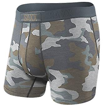 Saxx Underwear Co Vibe Supersize Camo Boxer Brief - Grey/Brown
