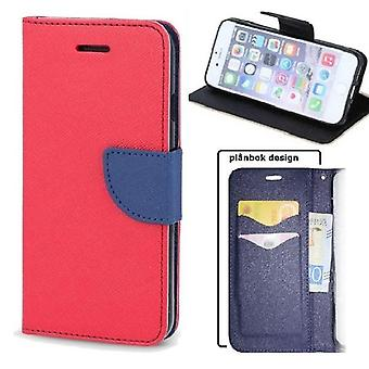 Nokia 2.2 - Smart Fancy Mobile Wallet Case - Rød/ Navy Blue